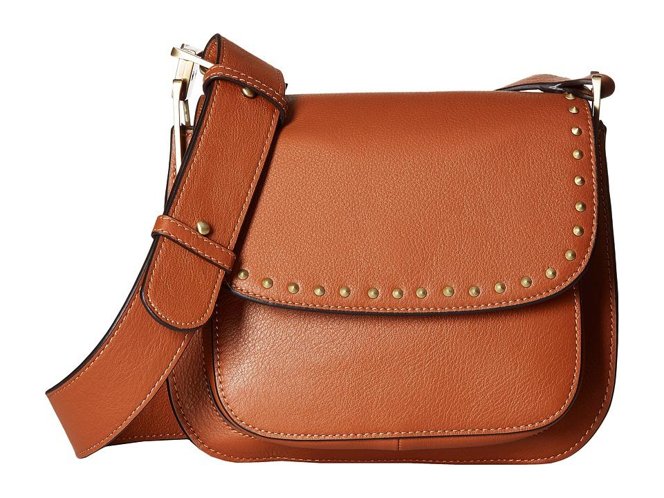 Sam Edelman - Renee Iconic Saddle (Cognac) Cross Body Handbags