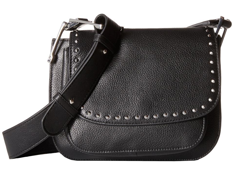 Sam Edelman - Renee Iconic Saddle (Black) Cross Body Handbags