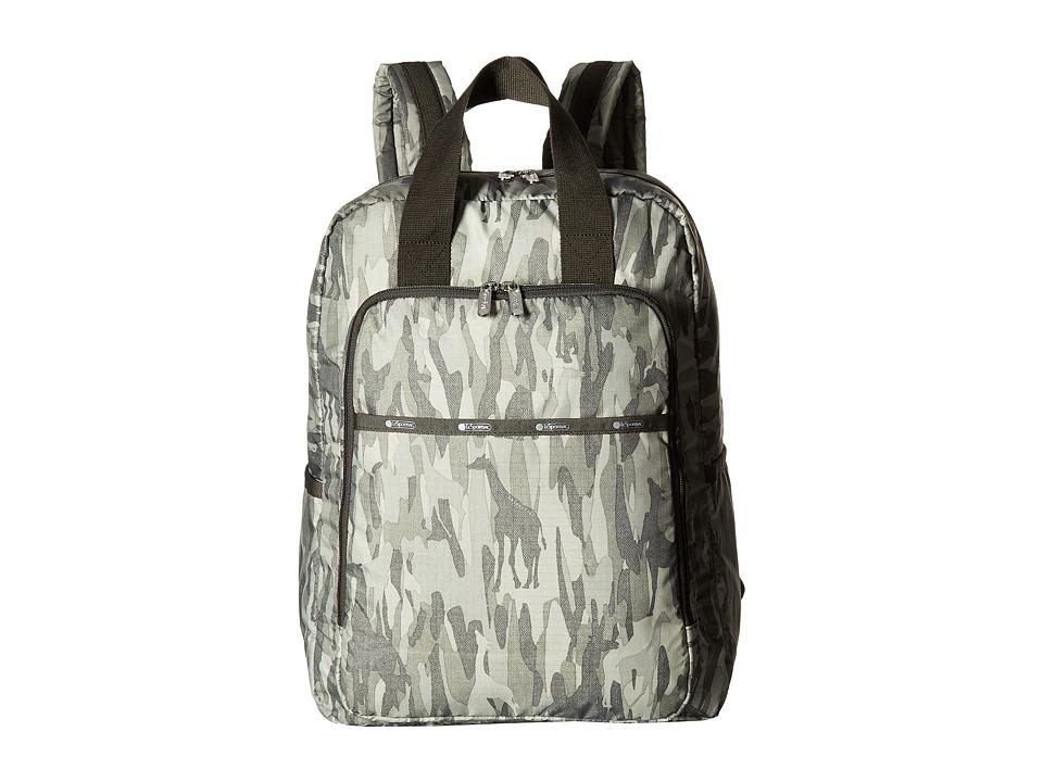 LeSportsac - Baby Utility Backpack (Animal Camo) Backpack Bags