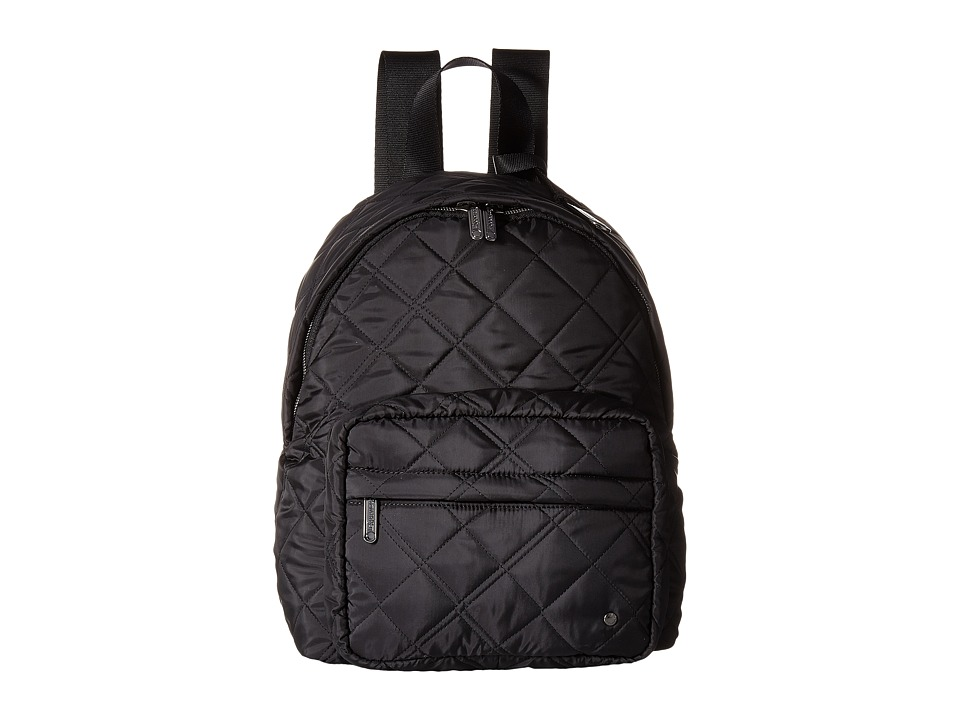 LeSportsac - City Piccadilly Backpack (Phantom Black Quilted) Backpack Bags