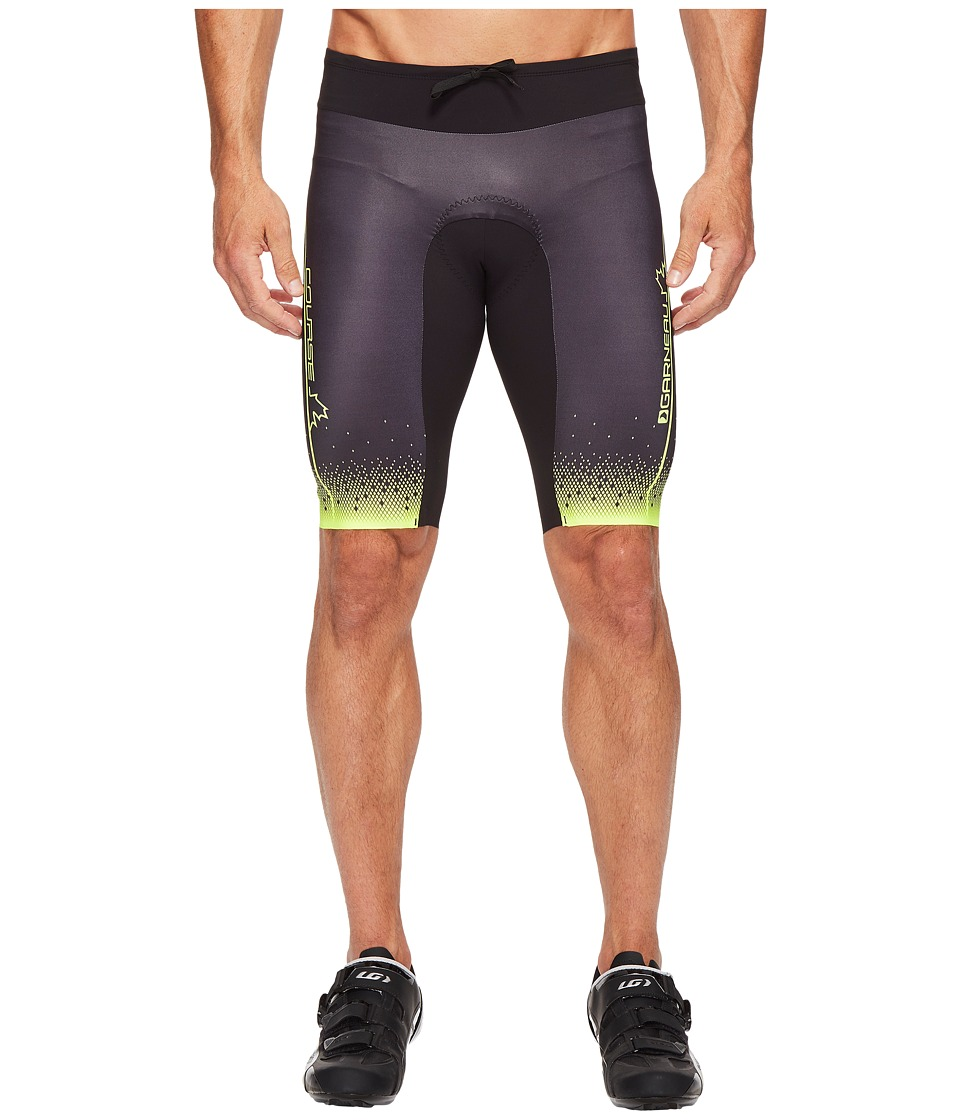 Louis Garneau Tri Course Shorts (Black/Bright Yellow) Men