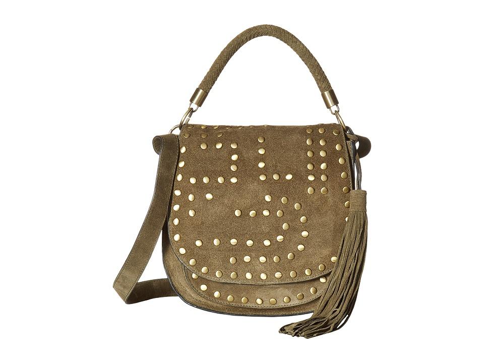 Sam Edelman - Heidi Studded Saddle (Moss) Handbags