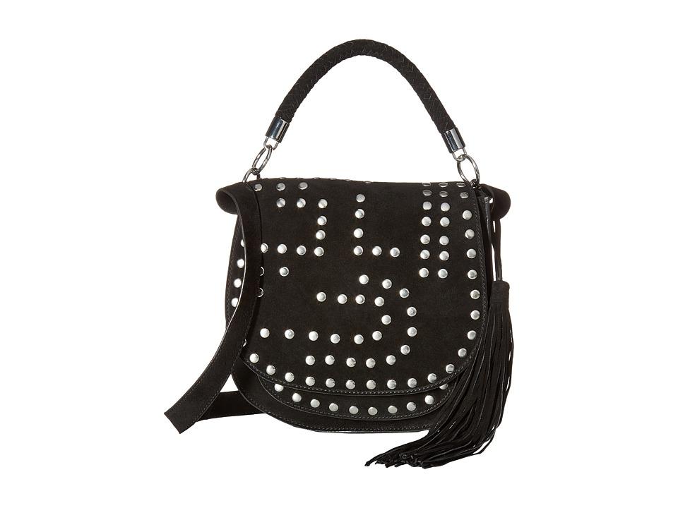 Sam Edelman - Heidi Studded Saddle (Black) Handbags