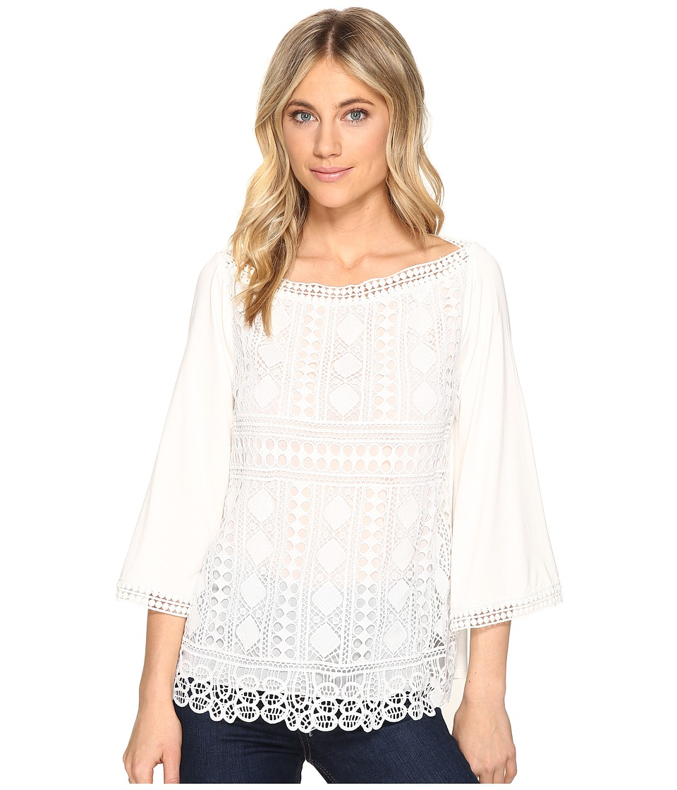 Hale Bob - New Frontiers Mix Media Lace Jersey Top