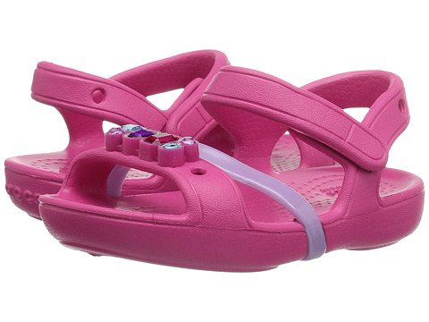 Crocs Kids Lina Sandal (Toddler/Little Kid) - Candy Pink