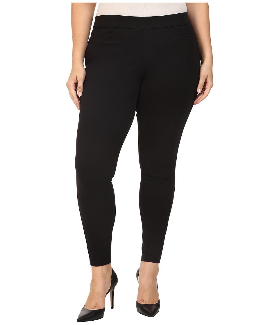 HUE - Plus Size Curvy Fit Jeans Leggings (Black) Women's Casual Pants