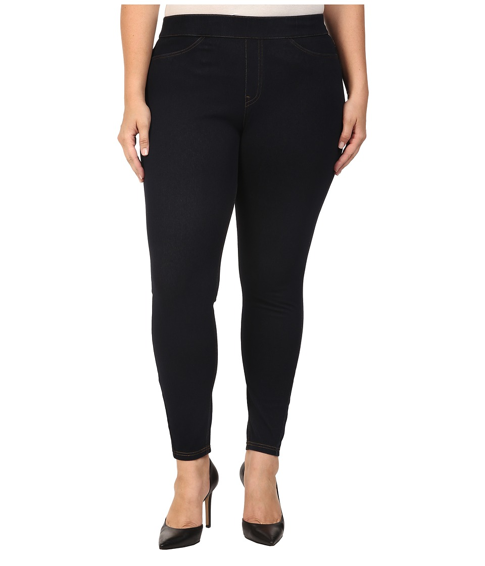 HUE Plus Size Curvy Fit Jeans Leggings (Midnight Rinse) Women