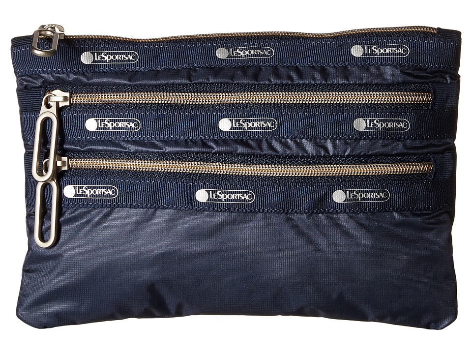 LeSportsac - Classic 3-Zip Pouch (Classic Navy) Wallet