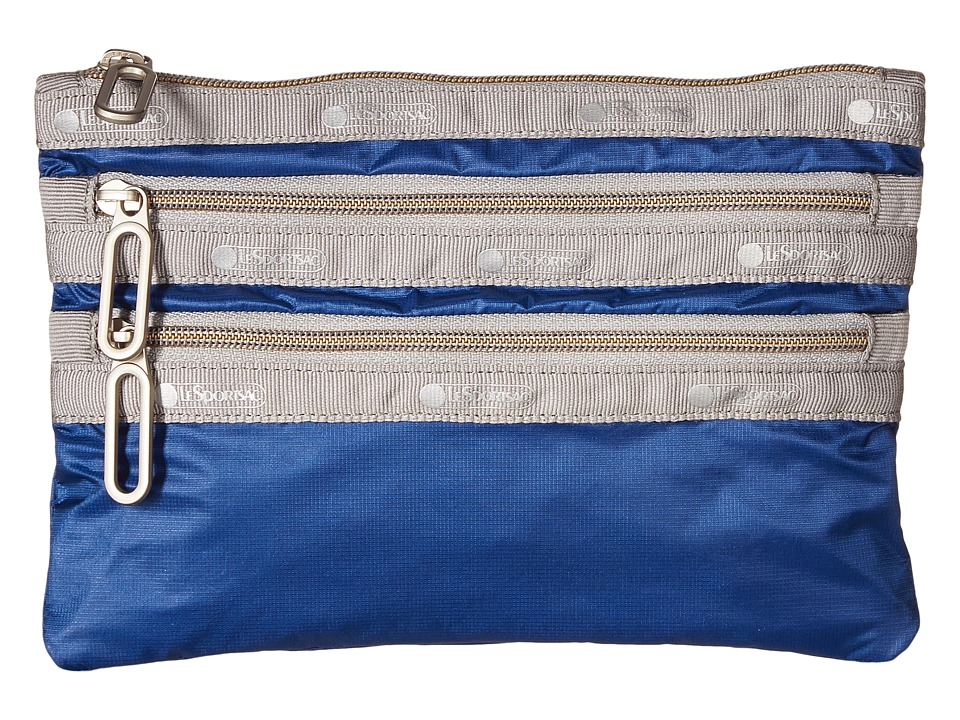LeSportsac - Classic 3-Zip Pouch (Blue Aster) Wallet