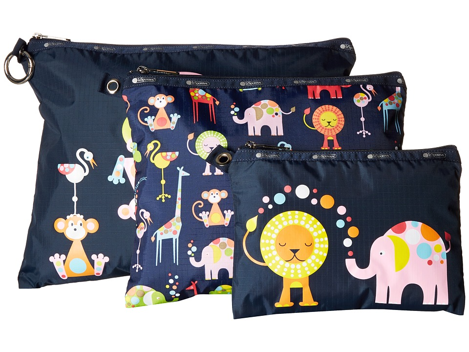 LeSportsac - Multi Pouch Set (Zoo Cute Multi) Travel Pouch