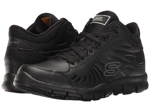 SKECHERS Work Eldred - Linton - Black Leather/Mesh/Trim