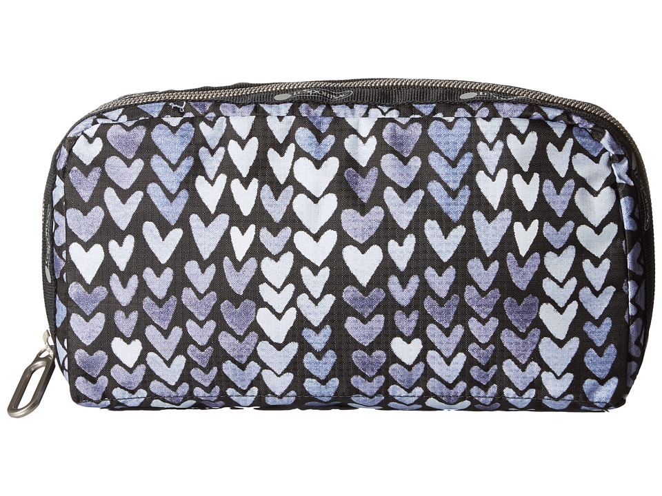 LeSportsac - Essential Cosmetic Case (Painted Hearts Blue) Cosmetic Case