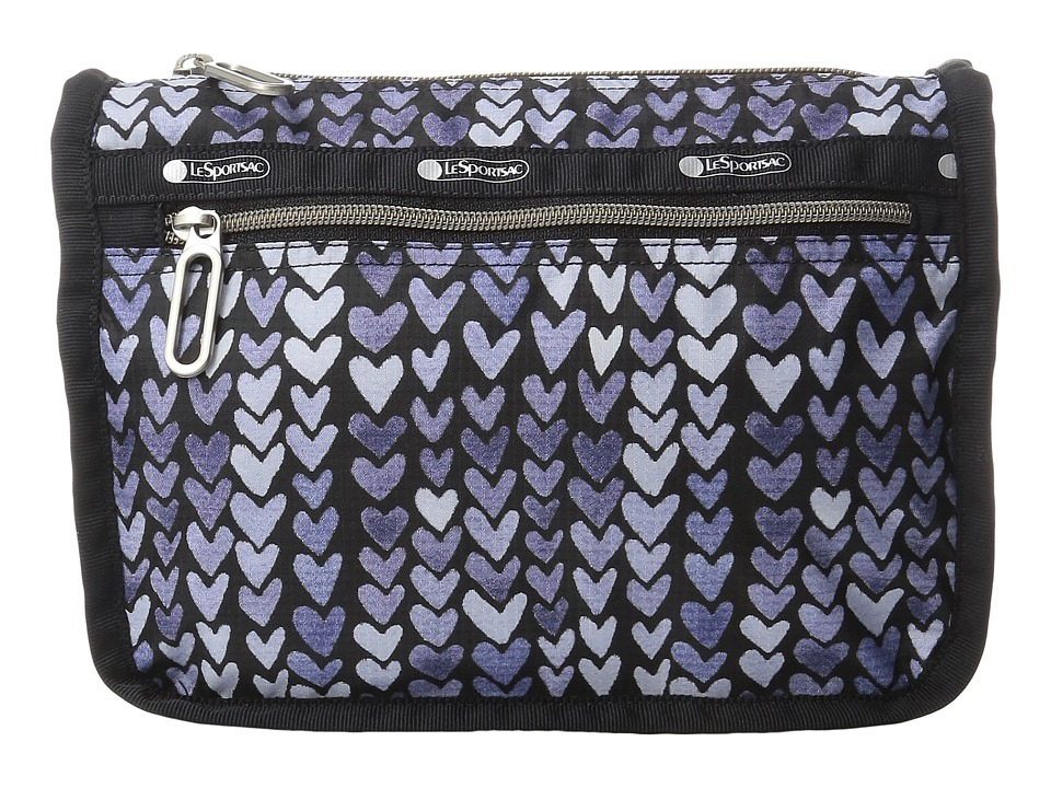 LeSportsac - Everyday Cosmetic Case (Painted Hearts Blue) Cosmetic Case