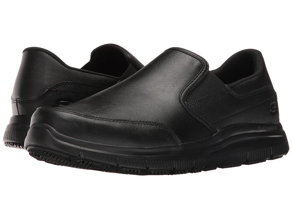 SKECHERS Work Flex Advantage SR Bronwood (Black Leather) Men