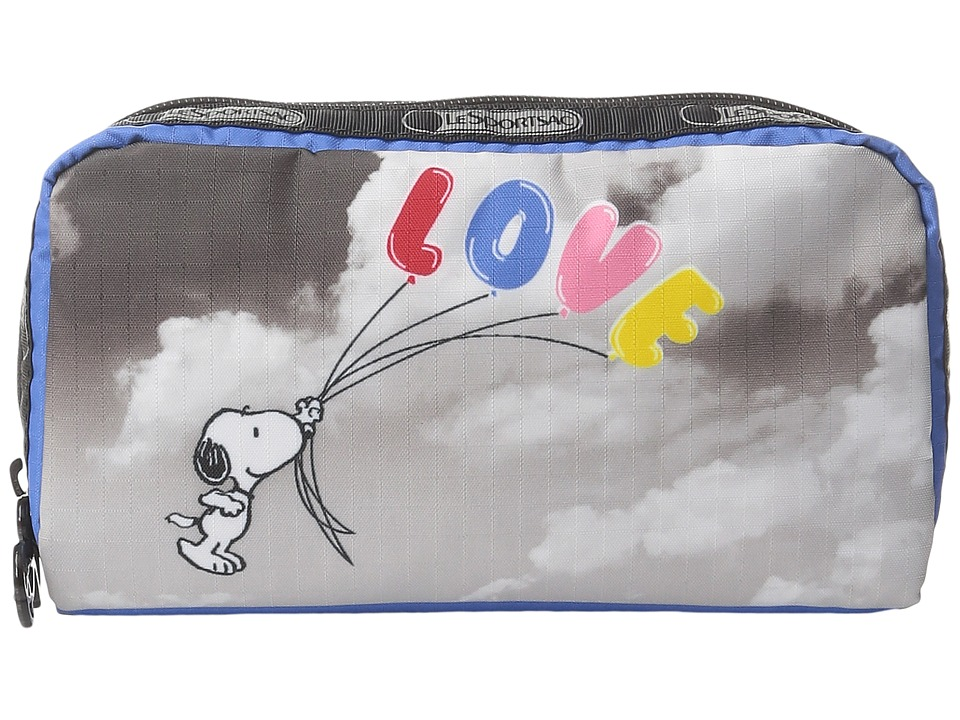 LeSportsac Rectangular Cosmetic (Snoopy Fly Away) Clutch Handbags