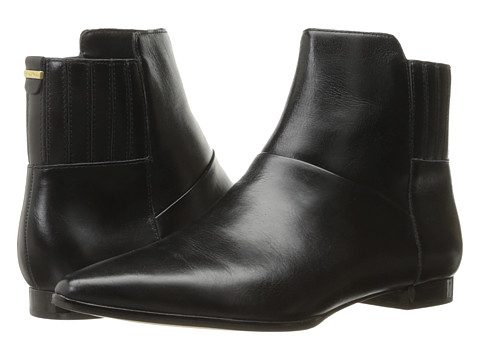 Calvin Klein Eunice - Black Crackled Leather