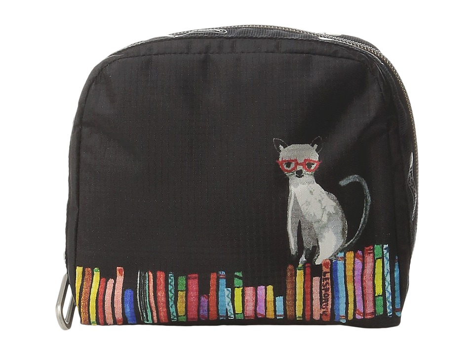 LeSportsac - SQ Essential Cosmetic Case (Curious Cats) Cosmetic Case
