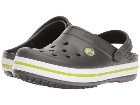 Crocs Kids Crocband Clog (Toddler/Little Kid) - Graphite/Volt Green