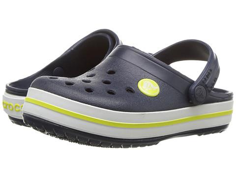 Crocs Kids Crocband Clog (Toddler/Little Kid) - Navy/Citrus