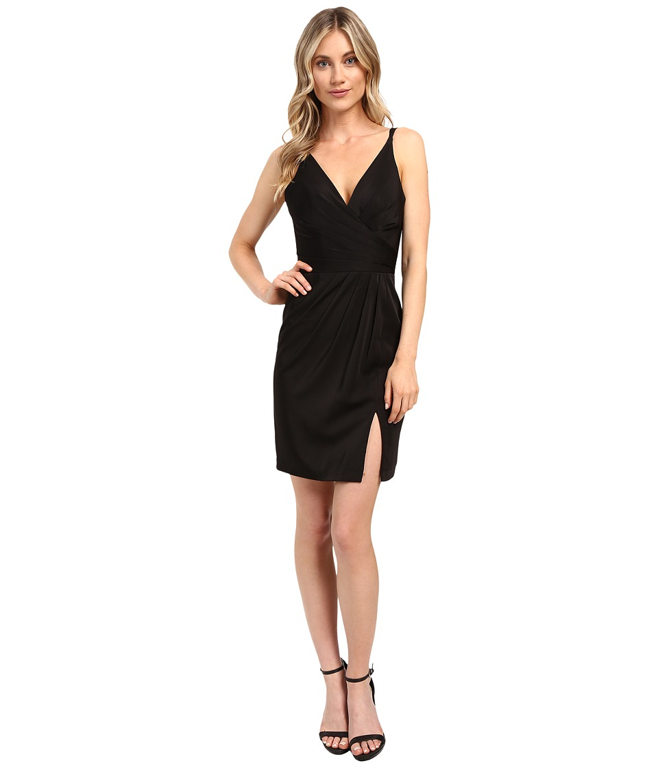 Faviana Chiffon V-Neck w/ Full Skirt 7850 (Black) Women