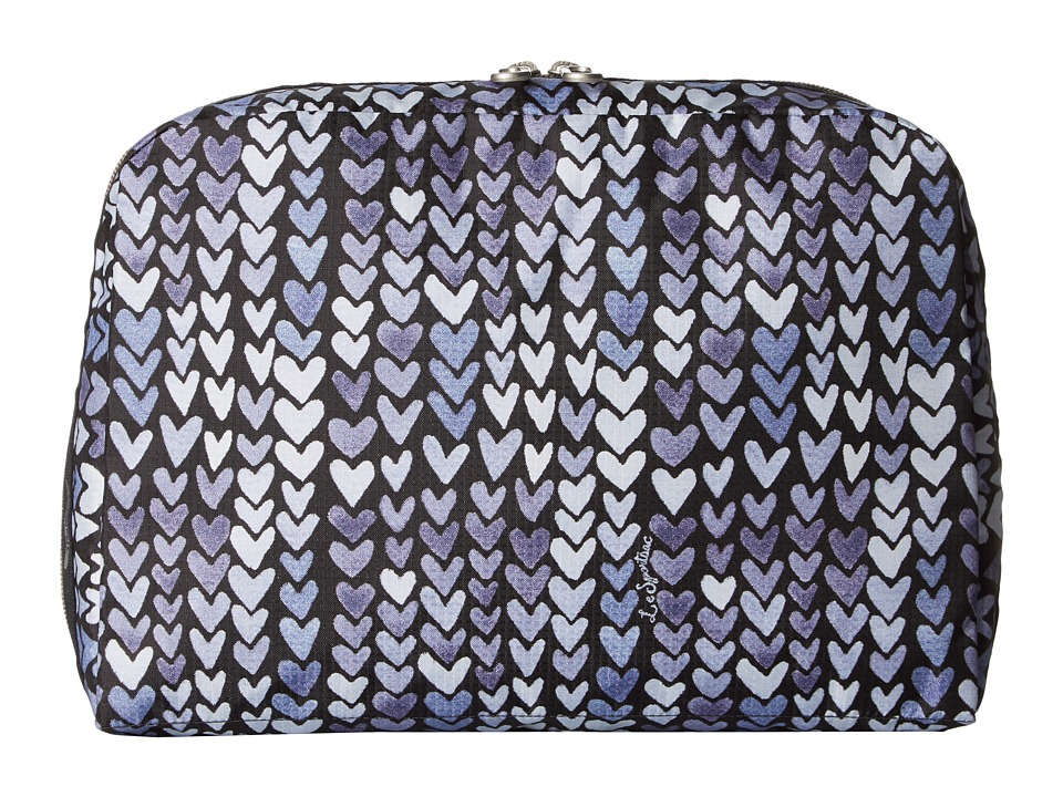 LeSportsac Luggage - XL Essential Cosmetic (Painted Hearts Blue) Cosmetic Case