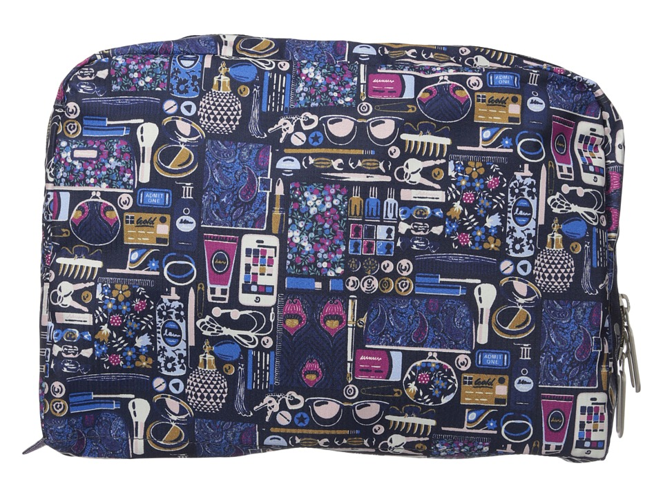LeSportsac Luggage XL Essential Cosmetic (Out and About Black) Cosmetic Case