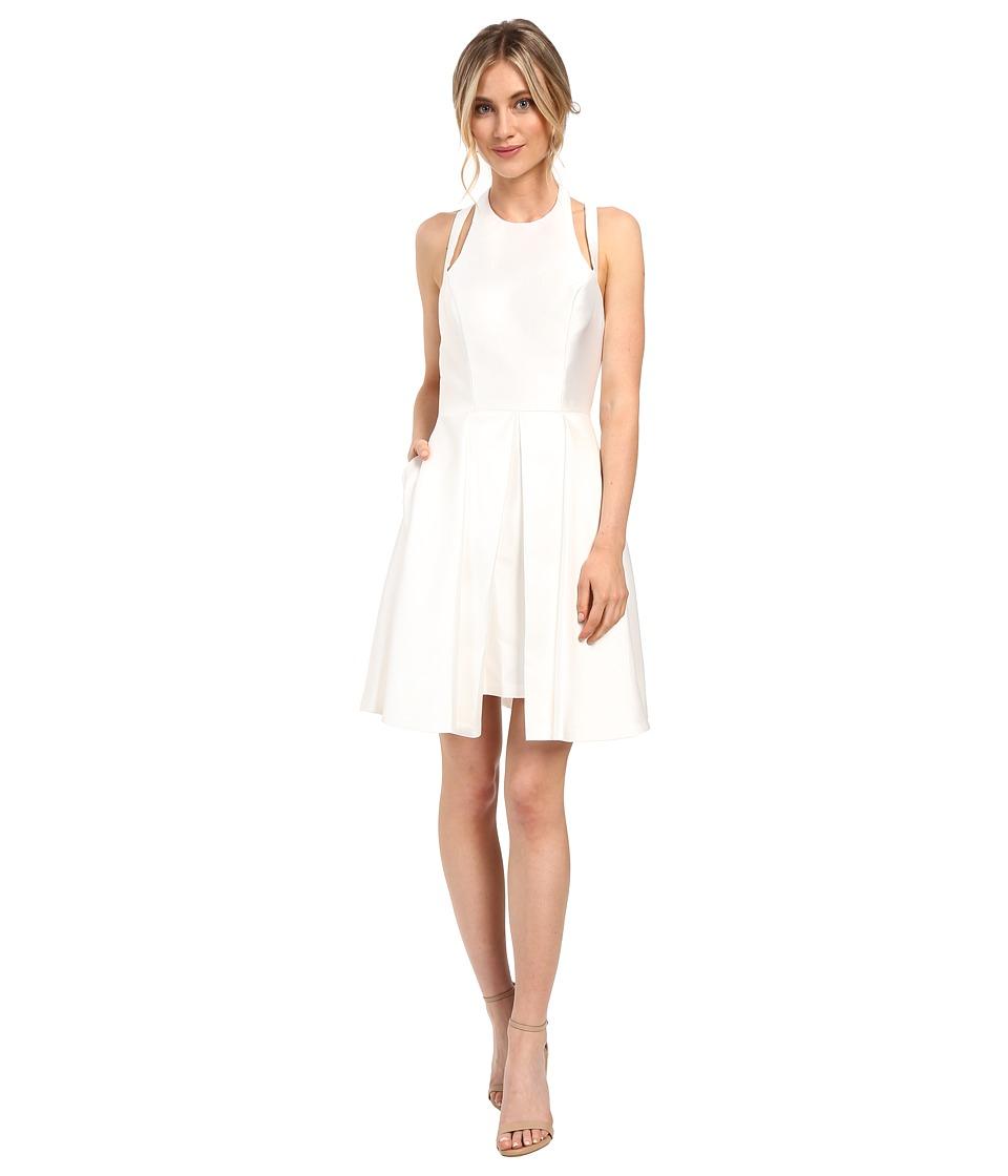 Faviana Mikado w/ Overskirt 7859 (White) Women's Dress