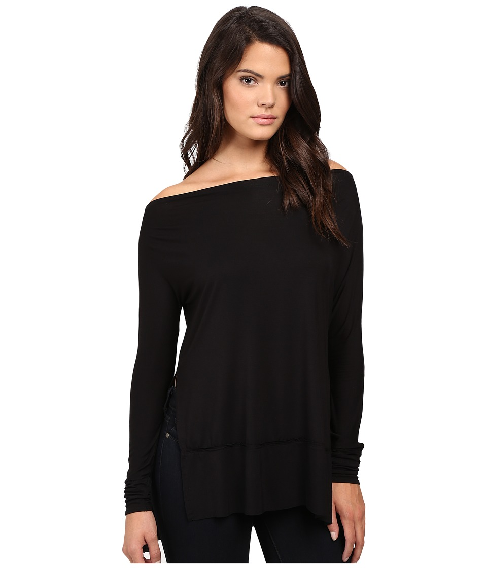 Free People Luna Tee (Black) Women