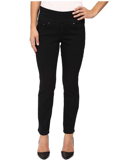 Jag Jeans Petite Petite Amelia Pull-On Ankle in Comfort Denim in Black Void - Black Void