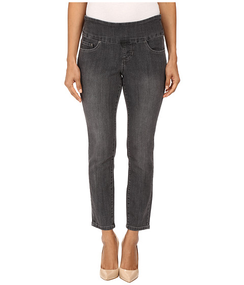 Jag Jeans Petite Petite Amelia Pull-On Ankle in Comfort Denim in Thunder Grey/Destroy