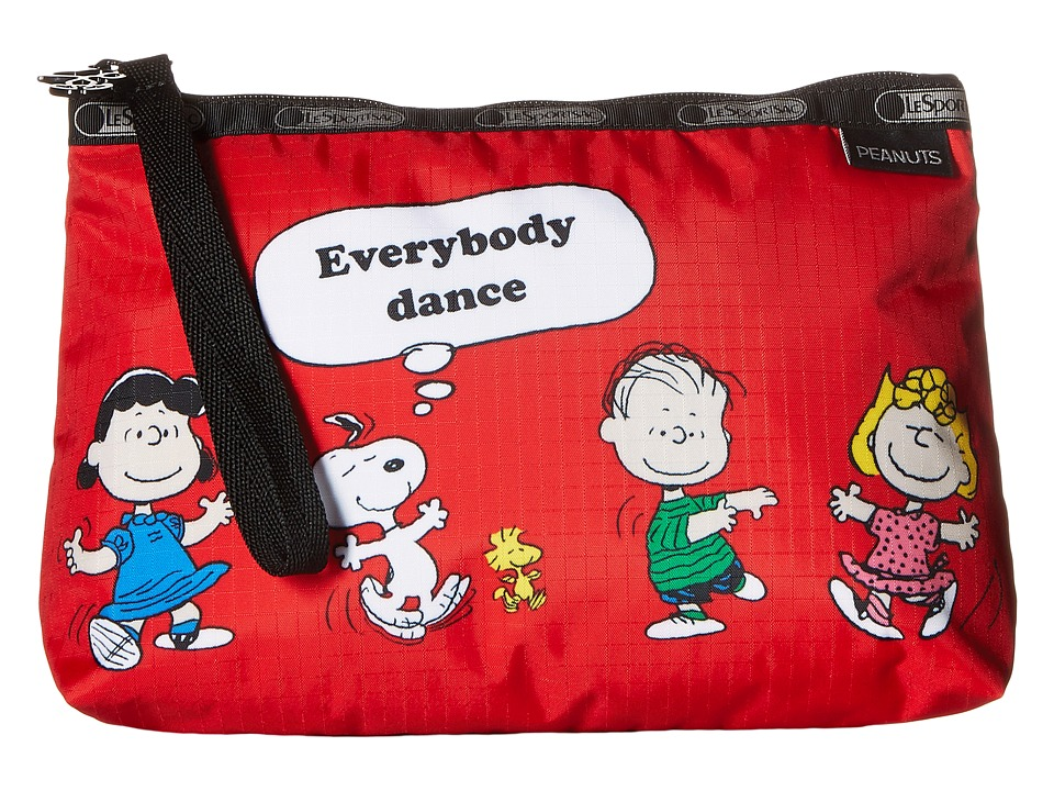 LeSportsac - Essential Wristlet (Fun with Friends Red) Bags