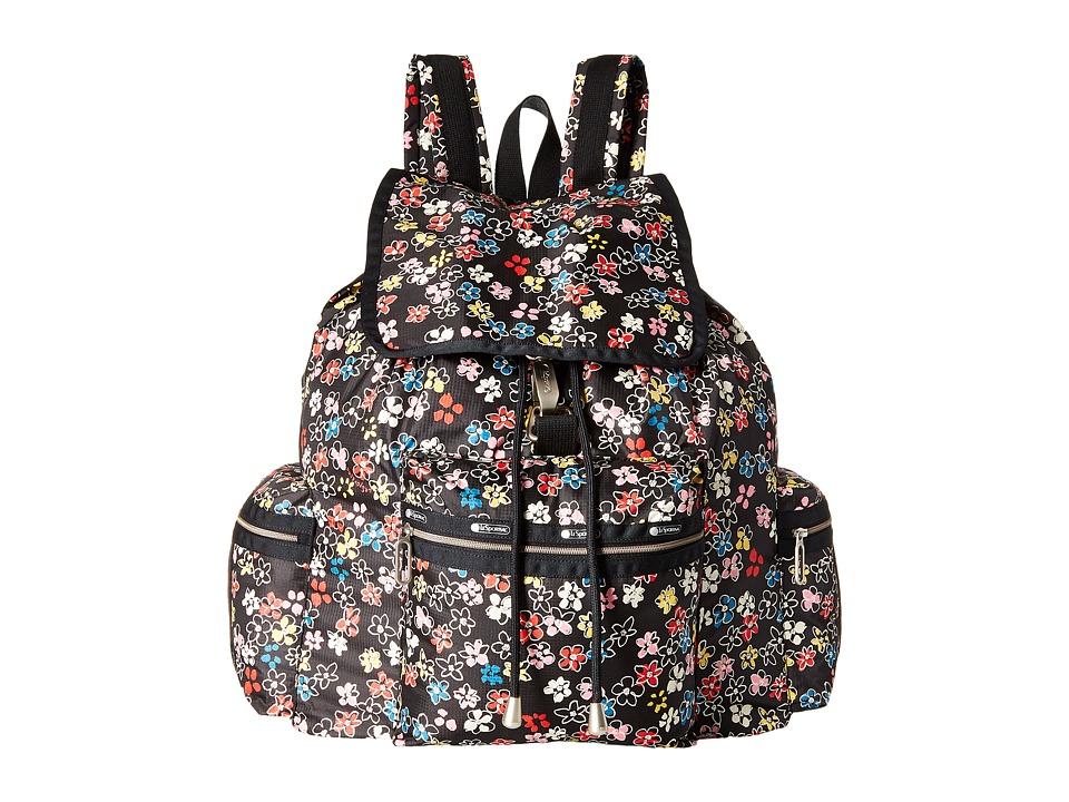 LeSportsac - 3-Zip Voyager (Flower Burst) Handbags