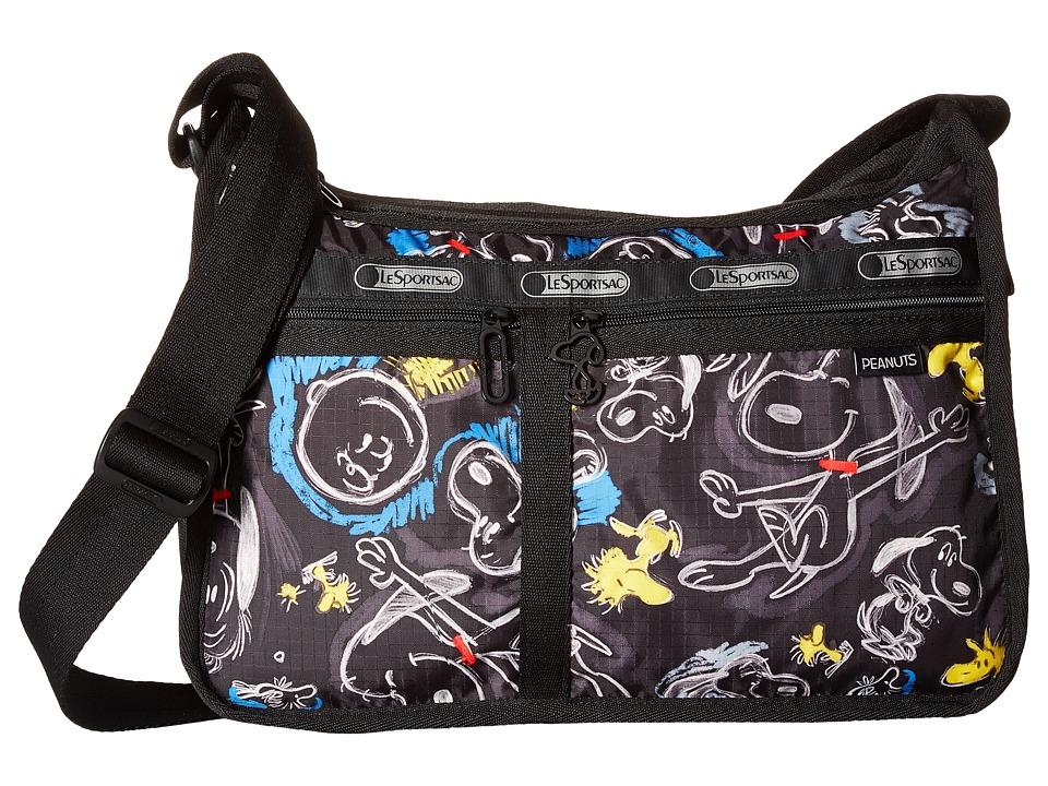LeSportsac - Deluxe Everyday Bag (Chalkboard Snoopy) Cross Body Handbags