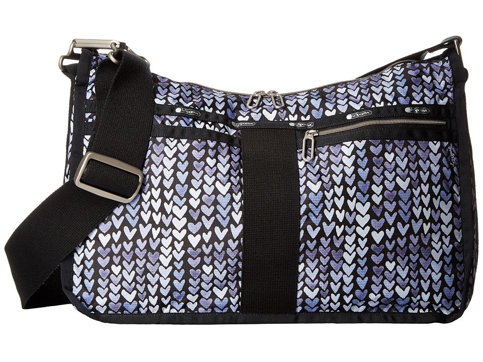 LeSportsac - Everyday Bag (Painted Hearts Blue) Handbags