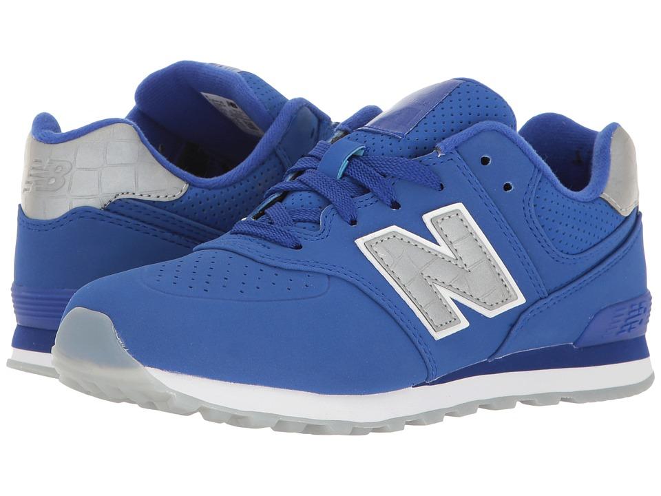 New Balance Kids KL574v1 Ice Rubber (Big Kid) (Blue/Blue) Boys Shoes