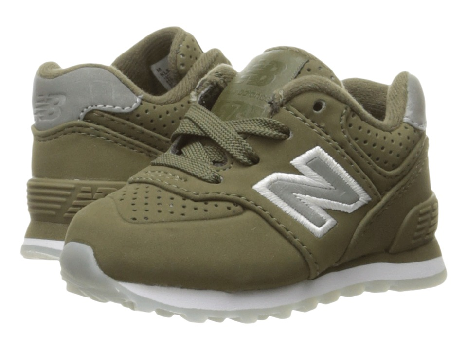 New Balance Kids KL574v1 Ice Rubber (Infant/Toddler) (Green/Green) Boys Shoes