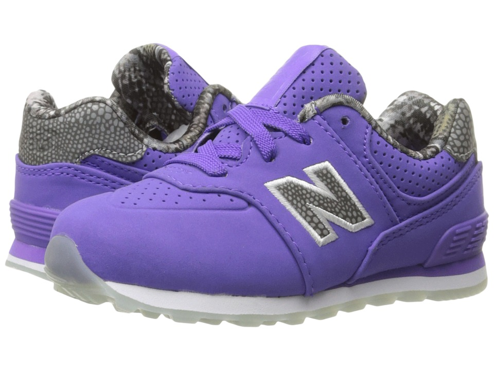 New Balance Kids KL574v1 Ice Rubber (Infant/Toddler) (Purple/Purple) Girls Shoes