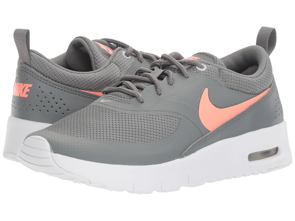 Nike Kids Air Max Thea (Little Kid) (Cool Grey/Lava Glow/Pure Platinum/White) Girls Shoes