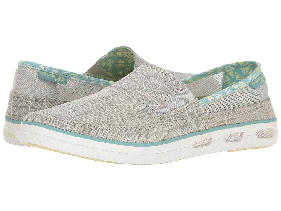 Columbia - Vulc N Vent Slip Outdoor PFG Print (Cool Grey/Spring Yellow) Womens Shoes