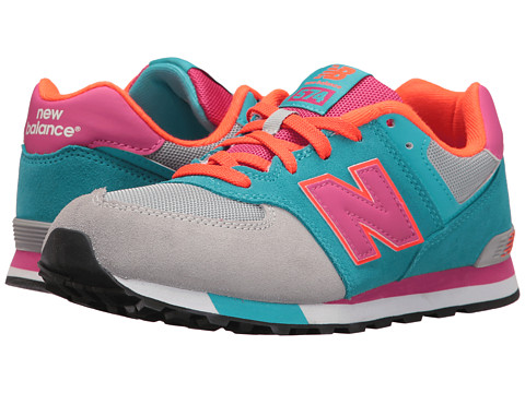 New Balance Kids KL574v1 Cut & Paste (Big Kid) - Grey/Teal