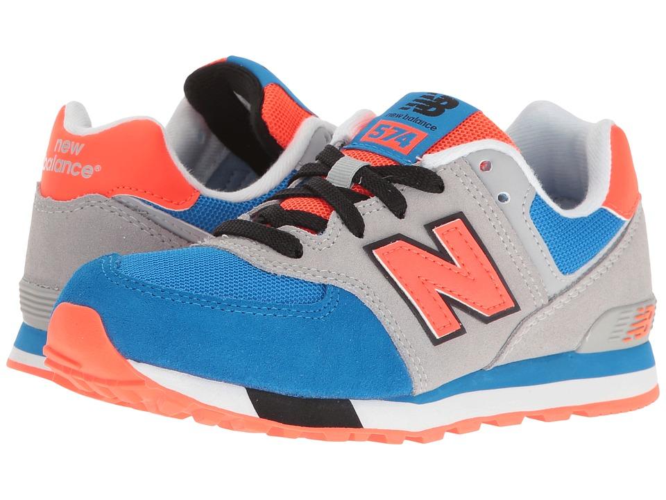 New Balance Kids KL574v1 Cut Paste (Little Kid) (Grey/Blue) Boys Shoes