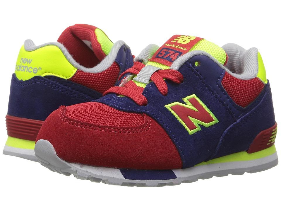 New Balance Kids KL574v1 Cut Paste (Little Kid) (Blue/Red) Boys Shoes