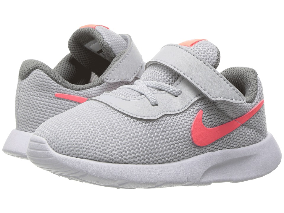 Nike Kids Tanjun (Infant/Toddler) (Pure Platinum/Lava Glow/Cool Grey/White) Girls Shoes