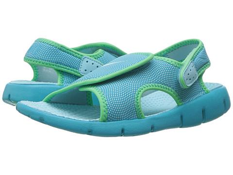 Nike Kids Sunray Adjust 4 (Little Kid/Big Kid) - Still Blue/Chlorine Blue/Electro Green