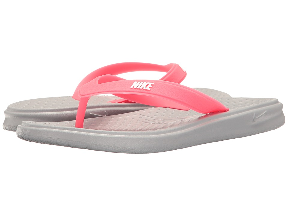 Nike Kids - Solay Thong (Little Kid/Big Kid) (Wolf Grey/W...