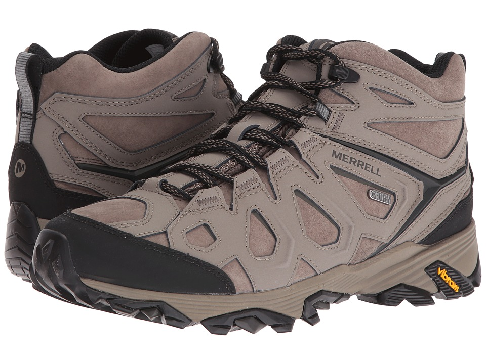 Merrell Moab FST Leather Mid Waterproof (Boulder) Men