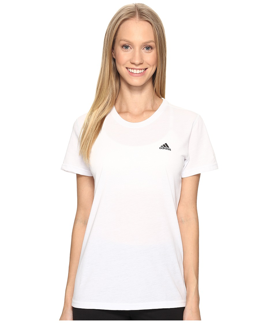 adidas Ultimate Short Sleeve Tee (White/Black) Women