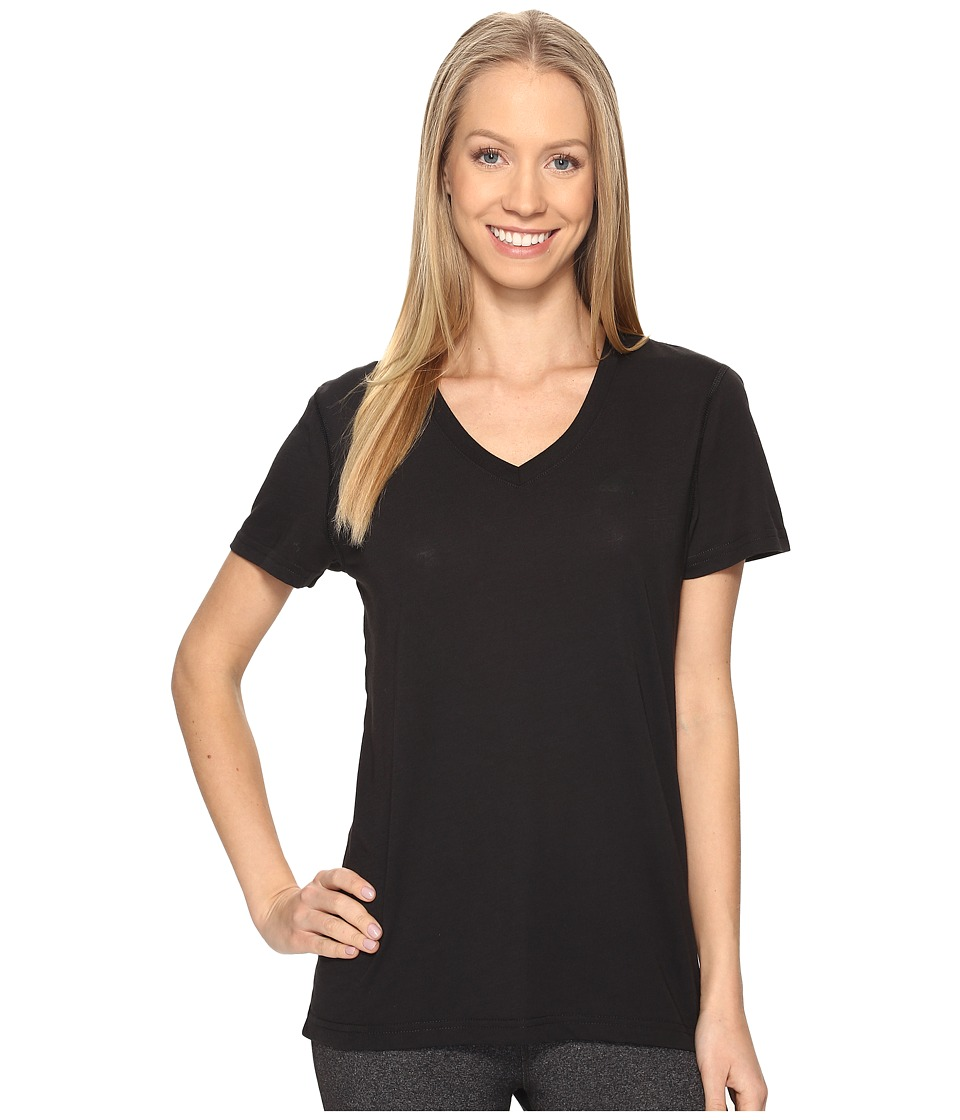 adidas Ultimate V-Neck Tee (Black/Black) Women