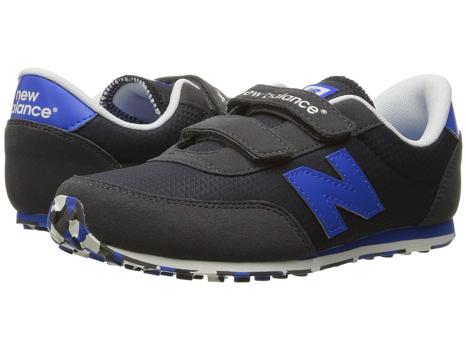 New Balance Kids KE410v1 (Little Kid/Big Kid) (Black/Blue) Boys Shoes