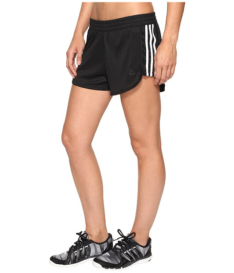adidas 3-Stripes Knit Shorts - Black/White
